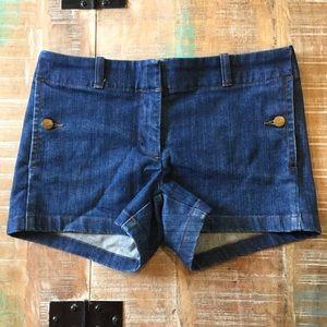 J. Crew Jean Shorts 4 blue denim